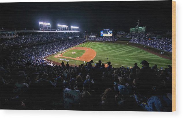 Animal Wood Print featuring the photograph Mlb Oct 29 World Series - Game 4 - by Icon Sportswire