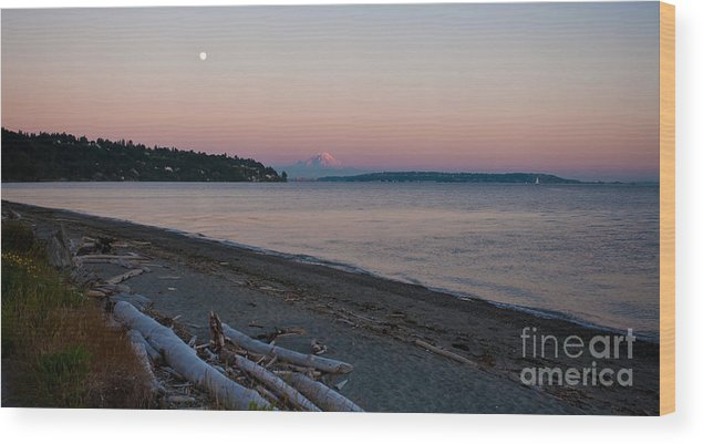 Rainier Wood Print featuring the photograph Northwest Evening by Mike Reid