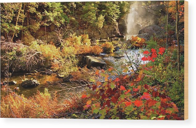 Dead River Falls Wood Print featuring the photograph Dead River Falls Marquette Michigan by Michael Bessler