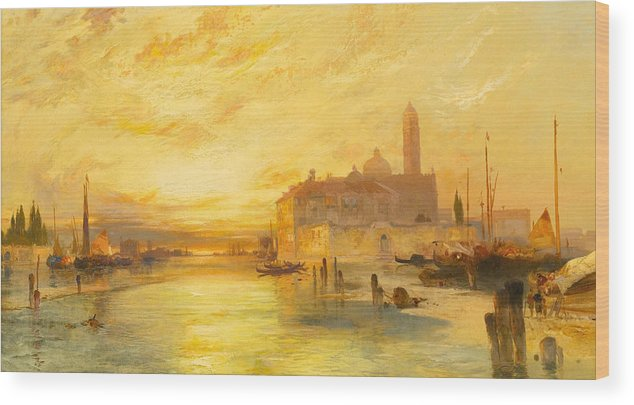 Moran Wood Print featuring the painting Venice by Thomas Moran