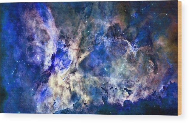 Carinae Nebula Wood Print featuring the photograph Carinae Nebula by Michael Tompsett