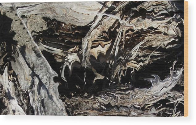 Abstract Art Wood Print featuring the photograph Frayed and Distracted Thoughts by Stephanie H Johnson