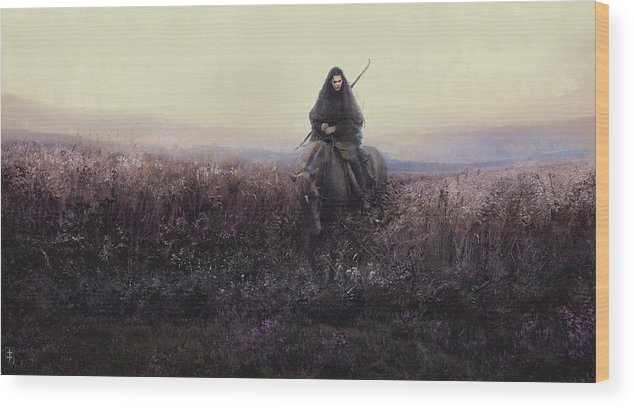 Warrioress Wood Print featuring the painting The Long Ride by Eve Ventrue