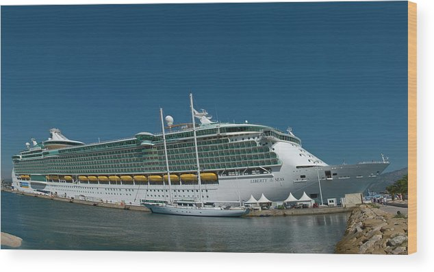 Cruise1109 Wood Print featuring the photograph Liberty of the Seas by Richard Henne