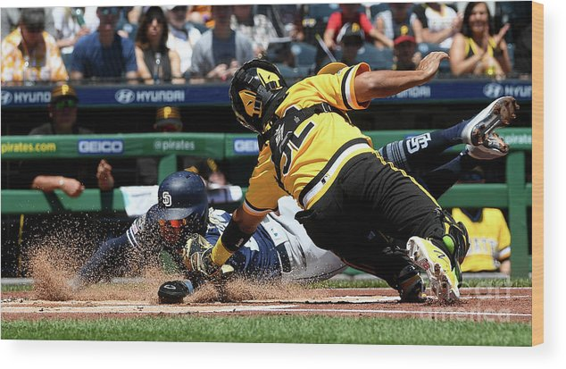 People Wood Print featuring the photograph San Diego Padres V Pittsburgh Pirates by Justin Berl