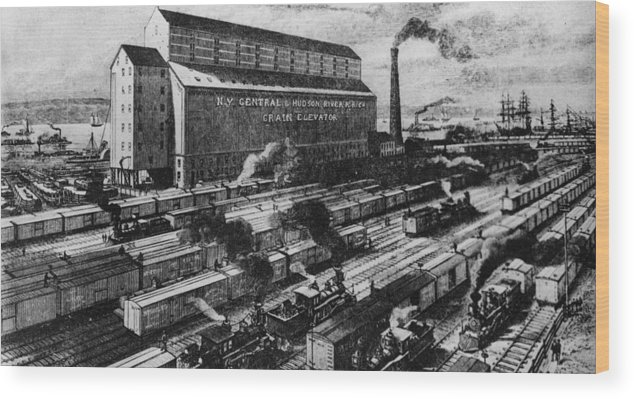 Freight Transportation Wood Print featuring the digital art Freight Yard by Three Lions
