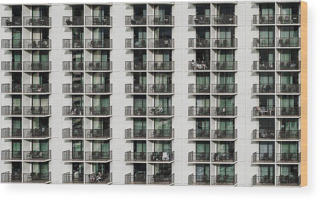 Balcony Wood Print featuring the photograph Saturday Afternoon by Andreas Agazzi