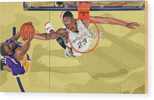 Nba Pro Basketball Wood Print featuring the photograph Anthony Davis by Layne Murdoch