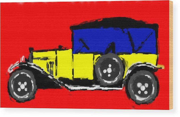 F1 Wood Print featuring the mixed media F1 by Asbjorn Lonvig