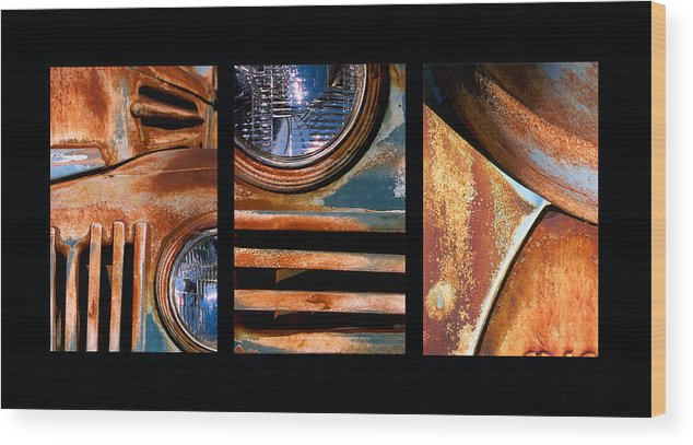 Abstract Wood Print featuring the photograph Red Head On by Steve Karol