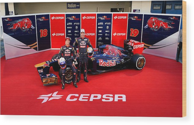 Australia Wood Print featuring the photograph Toro Rosso F1 Launch by Peter Fox