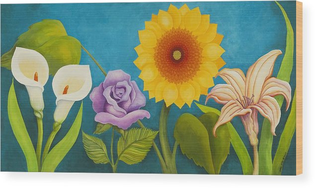 Art Wood Print featuring the painting Best Friends by Carol Sabo