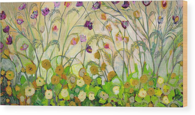 Landscape Wood Print featuring the painting Mardi Gras by Jennifer Lommers