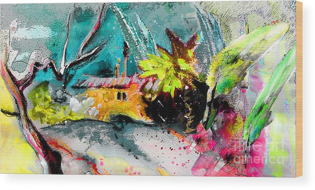 Pastel Painting Wood Print featuring the painting Glory of Nature by Miki De Goodaboom