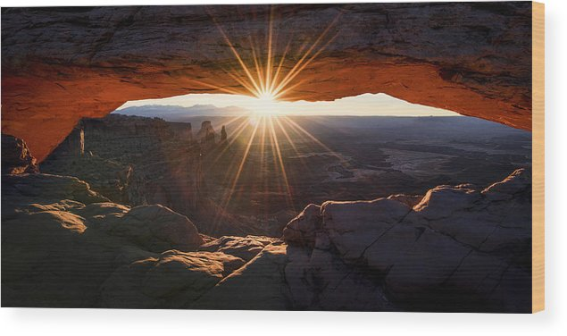 Mesa Glow Wood Print featuring the photograph Mesa Glow by Chad Dutson