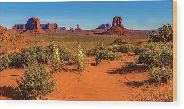 Monument Valley Wood Print featuring the photograph Monument Valley by Norman Hall