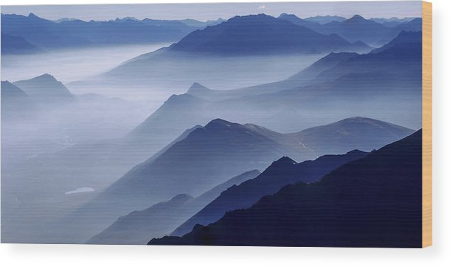 Morning Mist Wood Print featuring the photograph Morning Mist by Chad Dutson