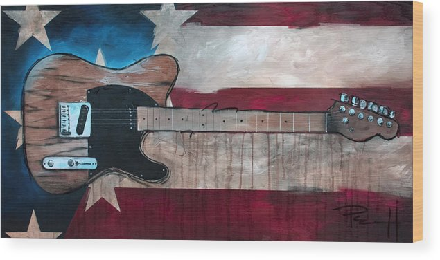 Bruce Springsteen Wood Print featuring the painting The Boss by Sean Parnell