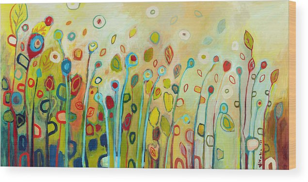 Floral Wood Print featuring the painting Within by Jennifer Lommers