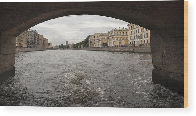 Arch Wood Print featuring the photograph Bridge across the Fontanka River by Fotosearch