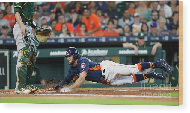 People Wood Print featuring the photograph Jake Marisnick by Bob Levey