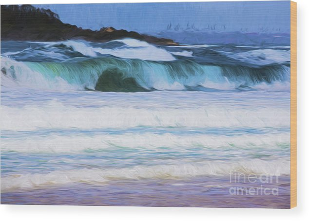 Surf Wood Print featuring the photograph Surfs up by Sheila Smart Fine Art Photography