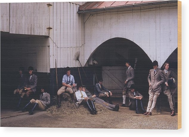 Horse Wood Print featuring the photograph School Riding by Slim Aarons
