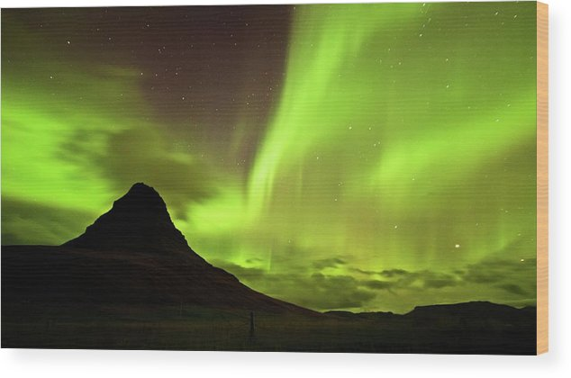 Scenics Wood Print featuring the photograph Aurora Borealis by Geinis