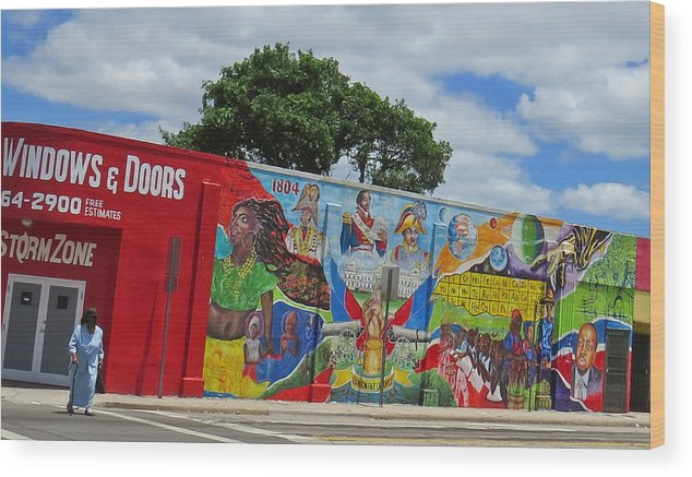 Miami Wood Print featuring the photograph Miami Street Art by Dart and Suze Humeston