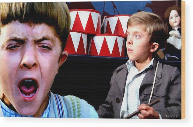 David Bennent Wood Print featuring the digital art David Bennent in the film The Tin Drum by Gabriel T Toro