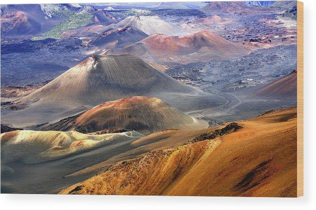 Haleakala Wood Print featuring the photograph Haleakala by Bill Morson