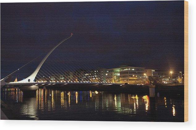 Dublin Wood Print featuring the photograph Sean Ocasey Bridge, Dublin by Leverstock