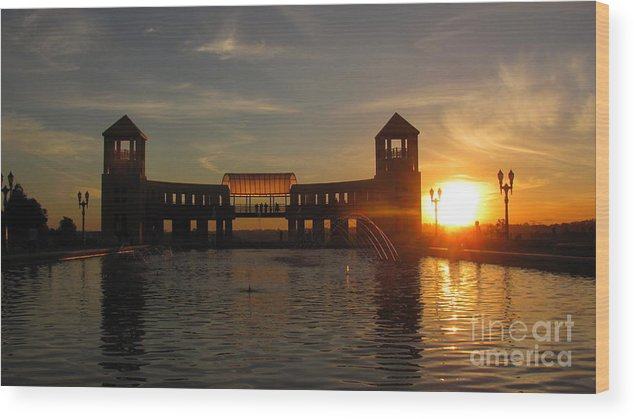 Sunset Wood Print featuring the photograph Sunset at Parque Tangua by Greg Mason Burns