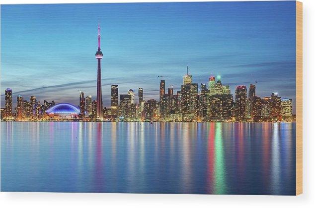 Tranquility Wood Print featuring the photograph Toronto Skyline by Thomas Kurmeier