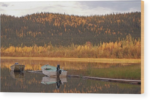 Harding Lake Wood Print featuring the photograph Peaceful Harding Lake by Jim and Kim Shivers