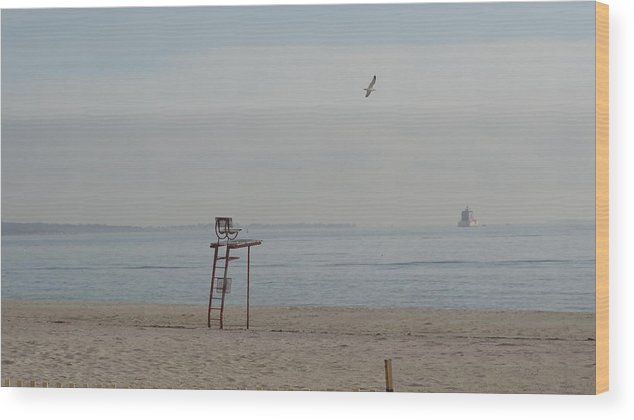 Lifeguard Seat Wood Print featuring the photograph Take a Seat by Jessica Cruz