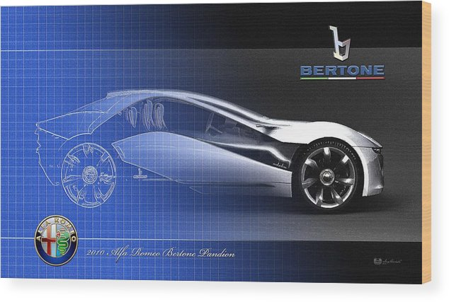 Wheels Of Fortune By Serge Averbukh Wood Print featuring the photograph Alfa Romeo Bertone Pandion Concept by Serge Averbukh