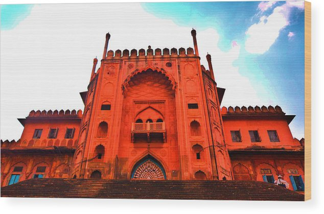 Architecture Wood Print featuring the photograph #entrance Gate by Aakash Pandit