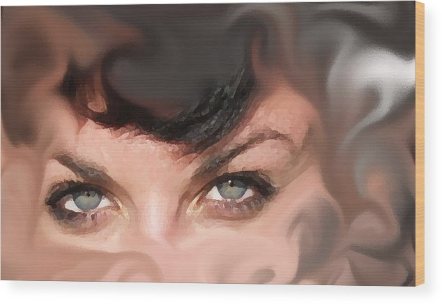 Eyes Wood Print featuring the photograph Pop Art Eyes by Heather Coen