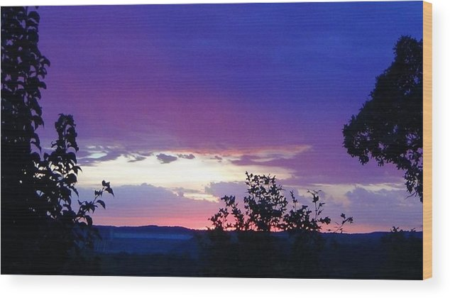 Purple Sunset Wood Print featuring the photograph Purple Passion by Toni Berry