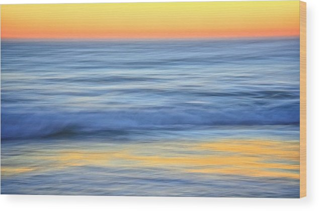 Nature Wood Print featuring the photograph Reflection Gold by Zayne Diamond Photographic