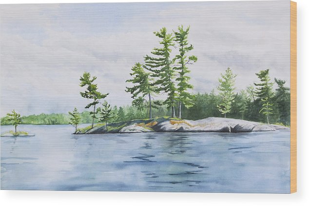 Stony Wood Print featuring the painting Stony Lake Afternoon by Debbie Homewood