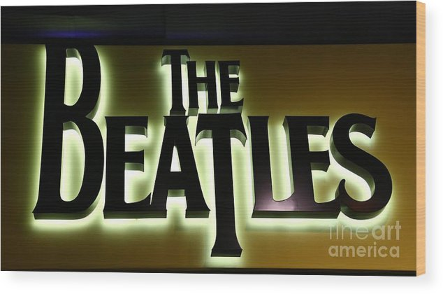 Beatles Wood Print featuring the photograph The Beatles by Douglas Sacha