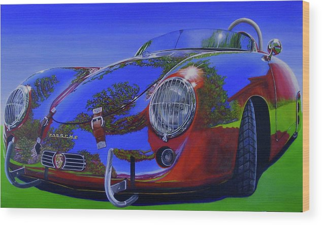 Car Wood Print featuring the painting Tub Effects by Lynn Masters