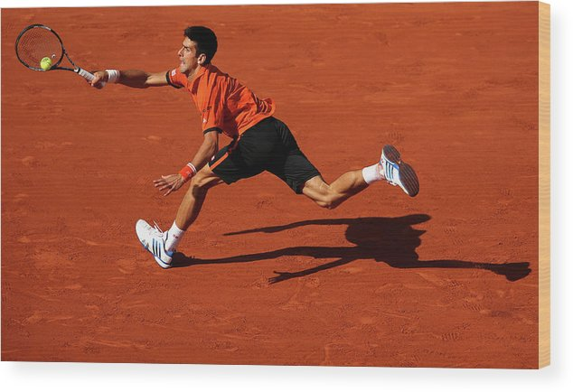 Tennis Wood Print featuring the photograph 2015 French Open - Day Eleven by Clive Brunskill