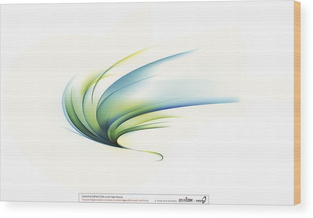 Curve Wood Print featuring the digital art Curved Shape On White Background by Eastnine Inc.