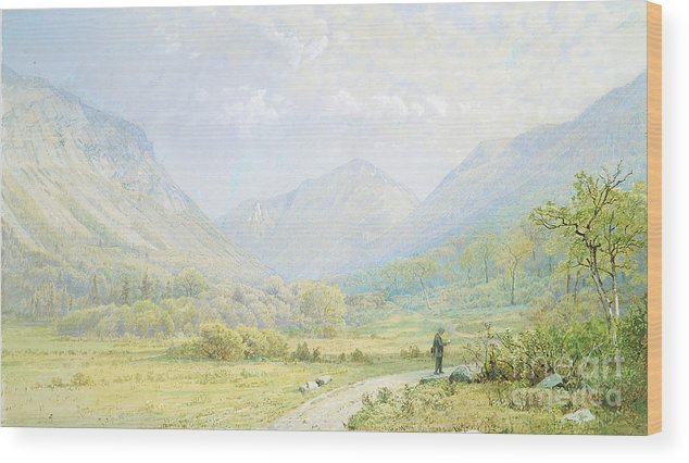 Gouache Wood Print featuring the drawing Franconia Notch by Heritage Images