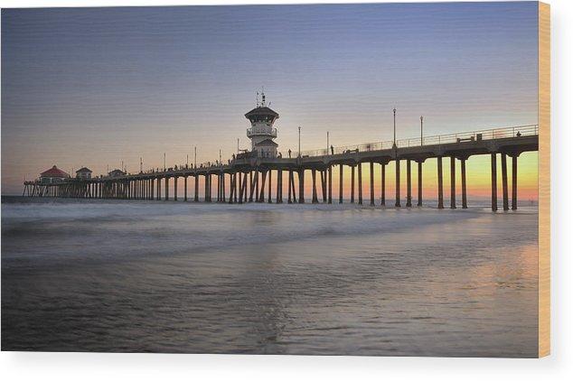 Scenics Wood Print featuring the photograph Huntington Beach Pier, California Xxxl by 4fr