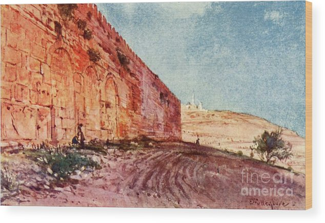 People Wood Print featuring the drawing Jerusalem - The Triple Gate by Print Collector