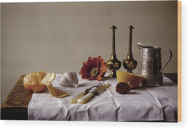 Orange Wood Print featuring the photograph Old Kitchen Still Life by Pch
